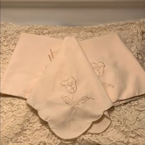 Estate Item - Three Napkins Unlabeled 15 x 15